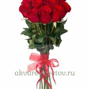 Букет 11 бордовых роз